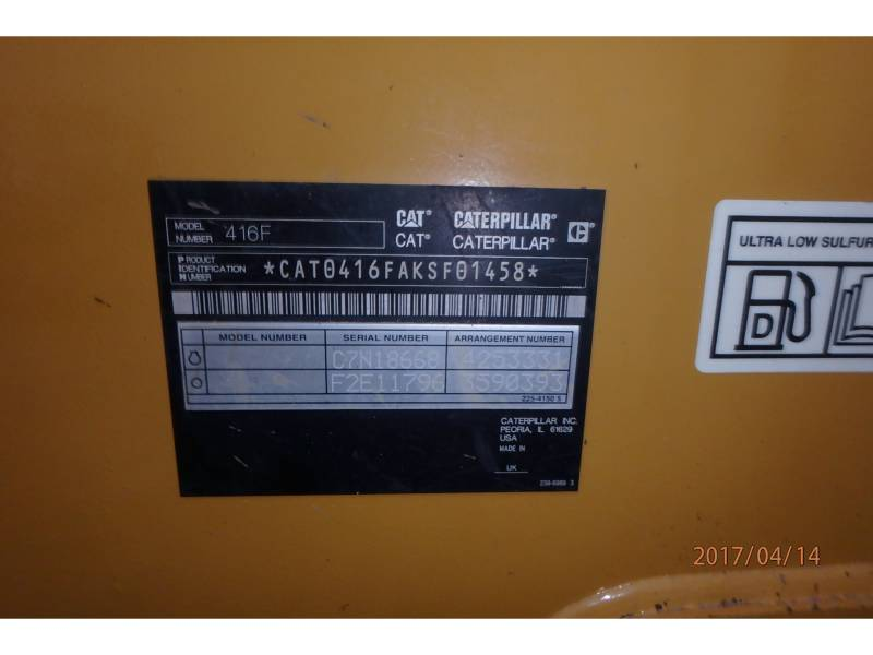 CATERPILLAR RETROEXCAVADORAS CARGADORAS 416FST equipment  photo 12