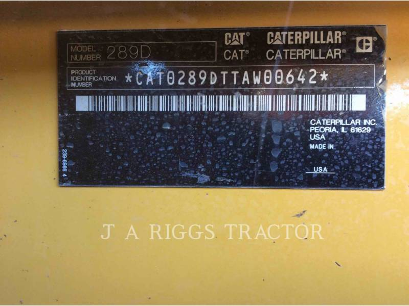 CATERPILLAR CARGADORES MULTITERRENO 289D AH equipment  photo 5
