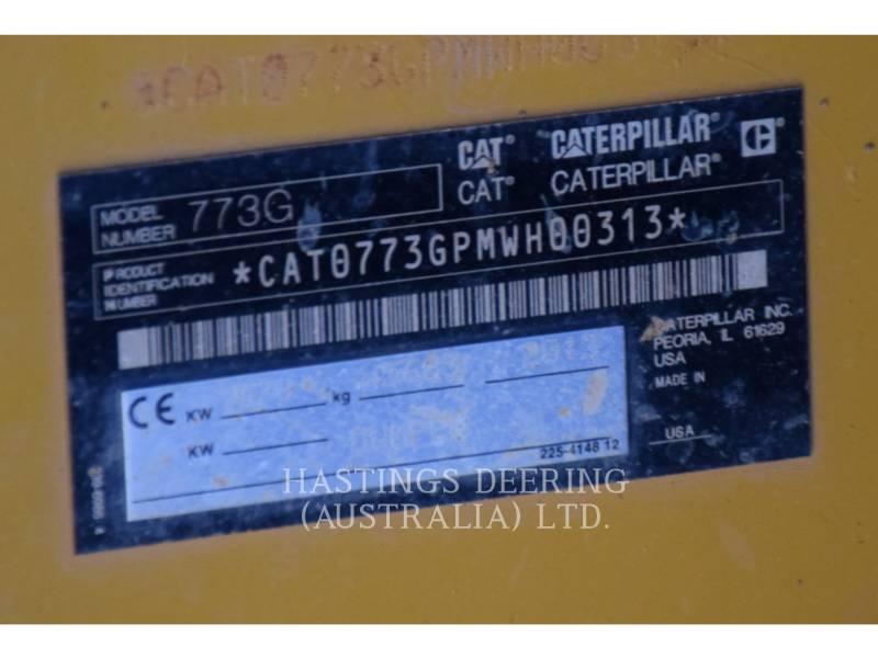 CATERPILLAR MINING OFF HIGHWAY TRUCK 773GLRC equipment  photo 23