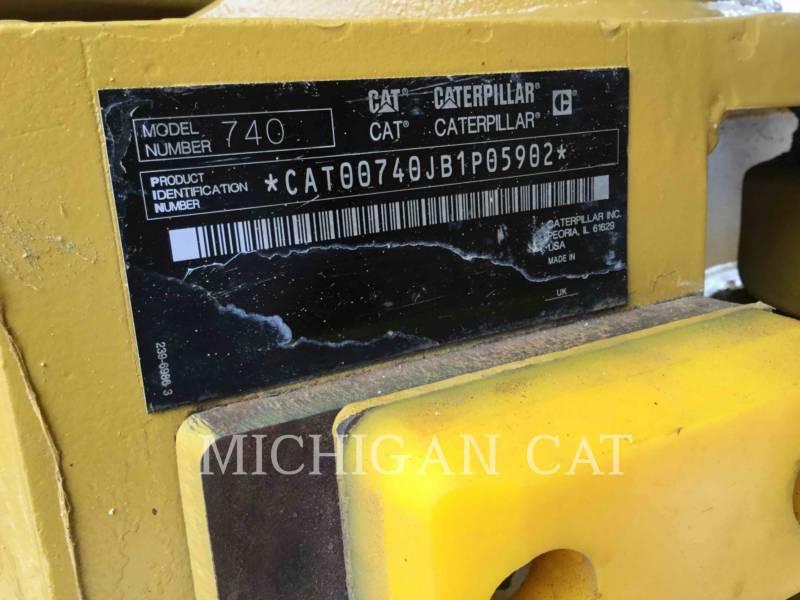 CATERPILLAR TOMBEREAUX ARTICULÉS 740 T equipment  photo 24