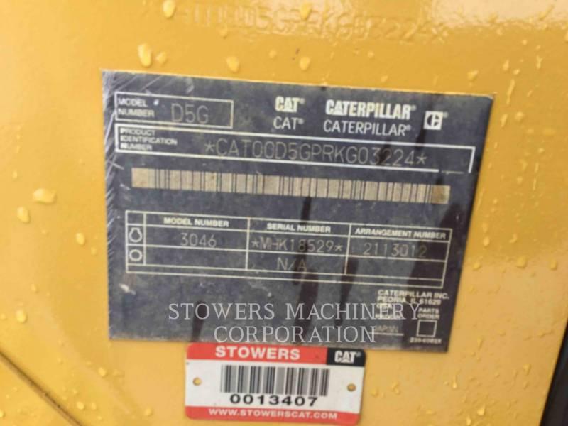 CATERPILLAR TRACK TYPE TRACTORS D5G LGP equipment  photo 12