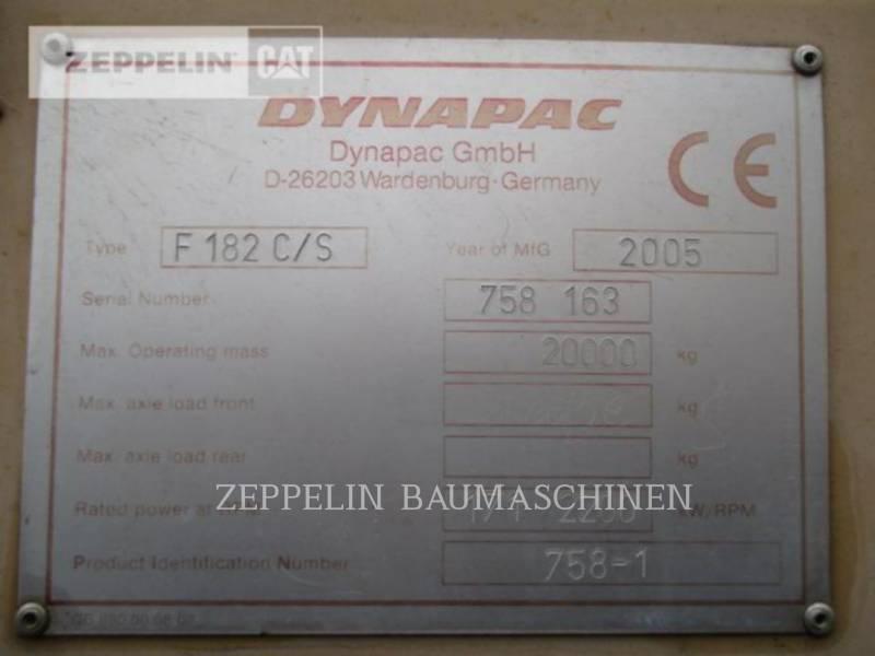 DYNAPAC SCHWARZDECKENFERTIGER F182CS equipment  photo 8