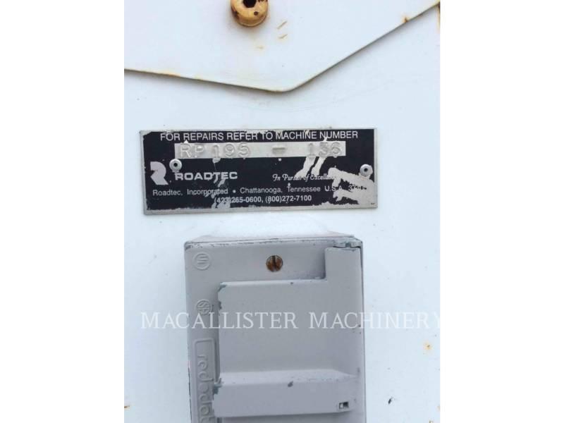 ROADTEC ASPHALT PAVERS RP195 equipment  photo 5