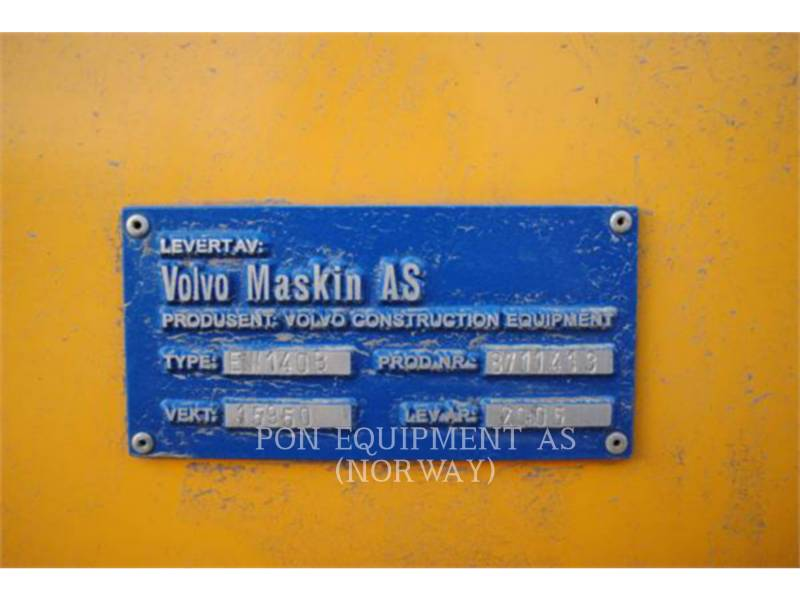 VOLVO CONSTRUCTION EQUIPMENT ESCAVADEIRAS DE RODAS EW140B equipment  photo 9