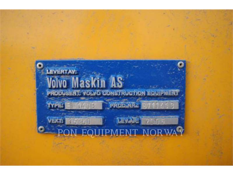 VOLVO CONSTRUCTION EQUIPMENT MOBILBAGGER EW140B equipment  photo 9