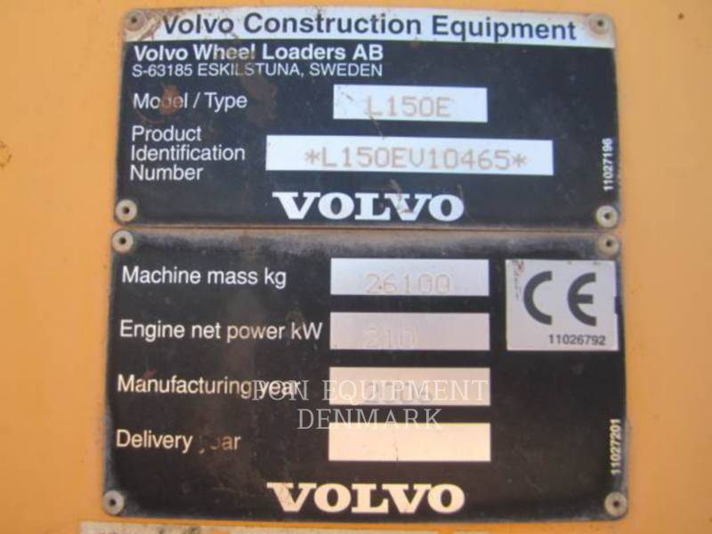 VOLVO CONSTRUCTION EQUIP BRASIL CARGADORES DE RUEDAS L150E equipment  photo 2