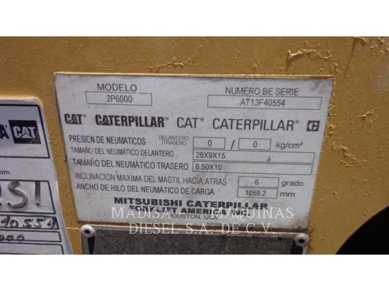 MITSUBISHI CATERPILLAR FORKLIFT CARRELLI ELEVATORI A FORCHE 2P60004-GL equipment  photo 2
