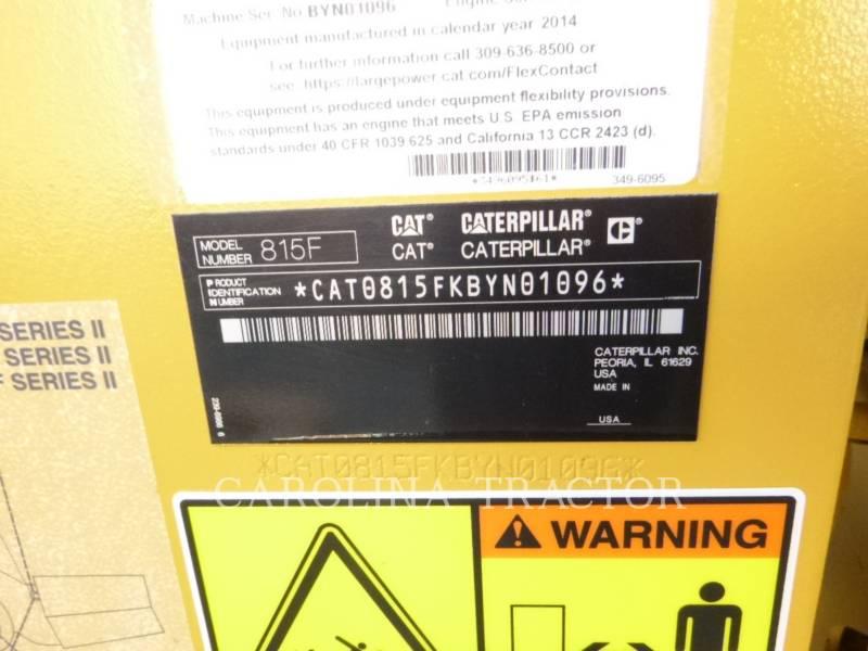 Caterpillar BULDOZERE CU ROŢI 815F2 equipment  photo 11