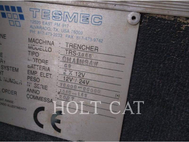 TESMEC TRENCHERS TRS-1085 equipment  photo 5