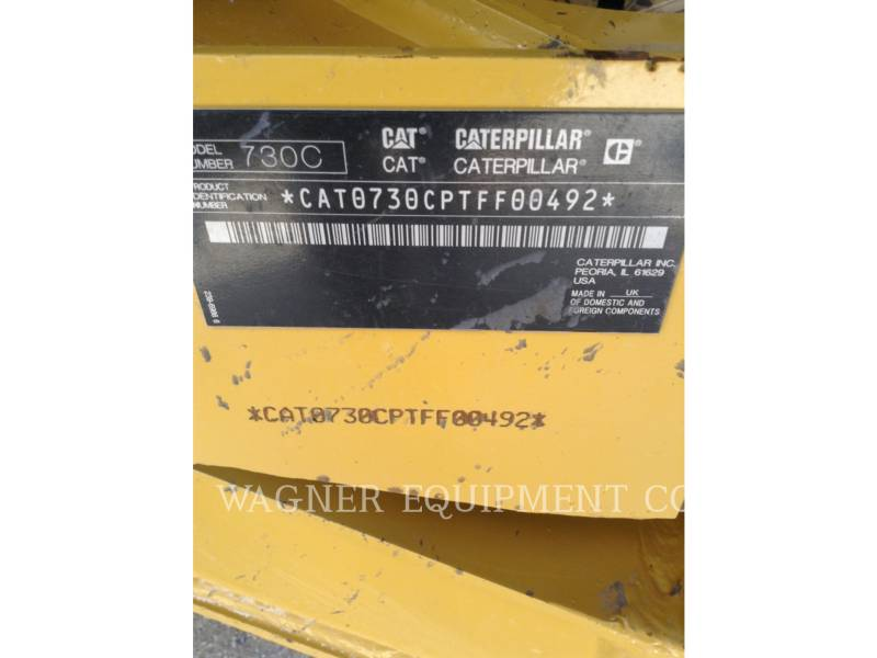 CATERPILLAR KNICKGELENKTE MULDENKIPPER 730C equipment  photo 8