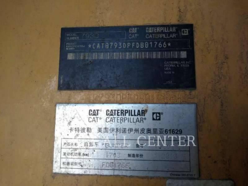 CATERPILLAR OFF HIGHWAY TRUCKS 793D equipment  photo 10