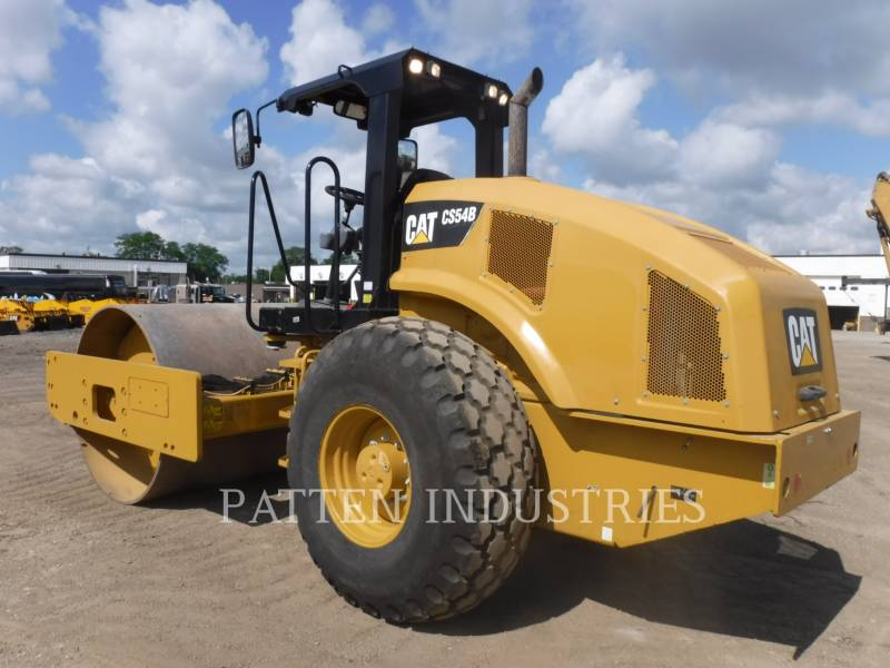 CATERPILLAR VIBRATORY SINGLE DRUM PAD CS54B equipment  photo 2