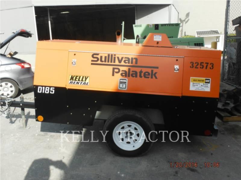 SULLIVAN AIR COMPRESSOR D185P DZ equipment  photo 1