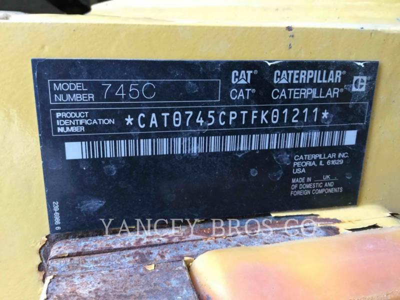 Caterpillar CAMIOANE ARTICULATE 745C equipment  photo 12