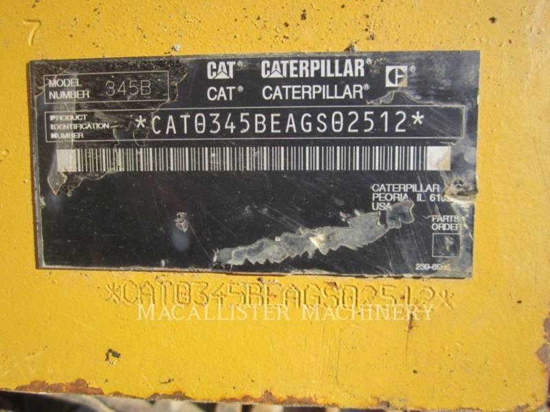 CATERPILLAR トラック油圧ショベル 345BIIL equipment  photo 10