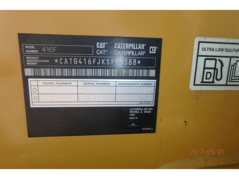 CATERPILLAR BACKHOE LOADERS 416FST equipment  photo 12