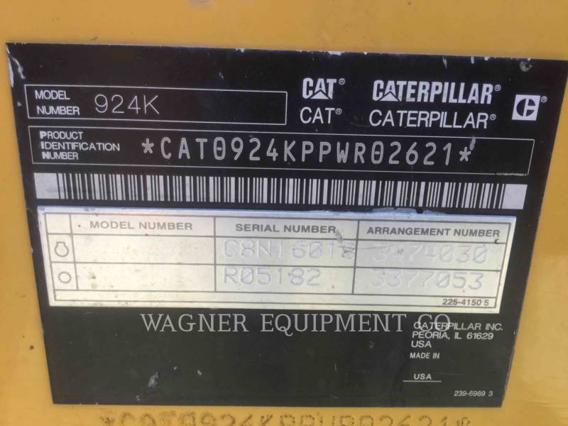 CATERPILLAR WHEEL LOADERS/INTEGRATED TOOLCARRIERS 924K FC equipment  photo 8