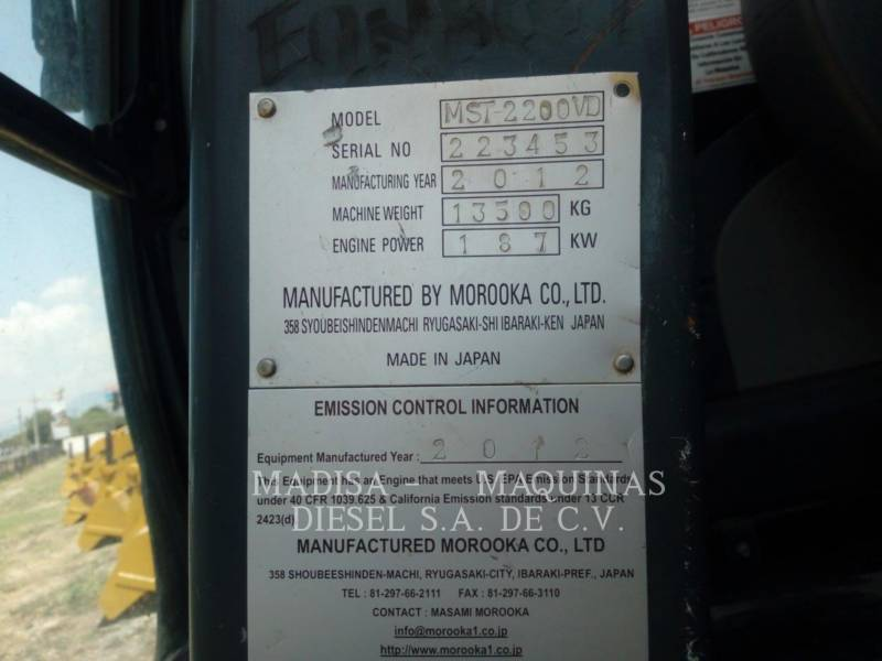 MOROOKA VEHÍCULOS UTILITARIOS / VOLQUETES MST2200VD  equipment  photo 2