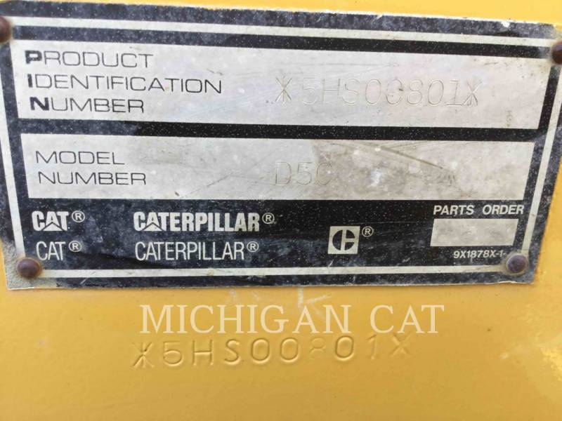 CATERPILLAR TRACK TYPE TRACTORS D5CIII equipment  photo 5