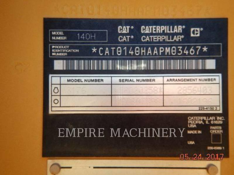 CATERPILLAR MOTOR GRADERS 140HNA equipment  photo 7