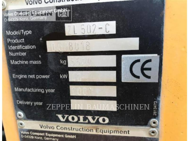 VOLVO CONSTRUCTION EQUIPMENT WHEEL LOADERS/INTEGRATED TOOLCARRIERS 502 equipment  photo 5