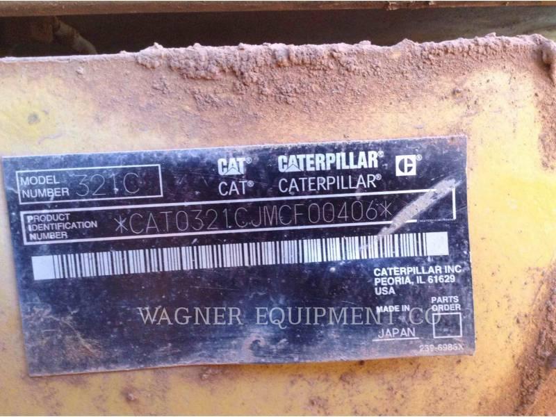 CATERPILLAR PELLES SUR CHAINES 321CL CR equipment  photo 4
