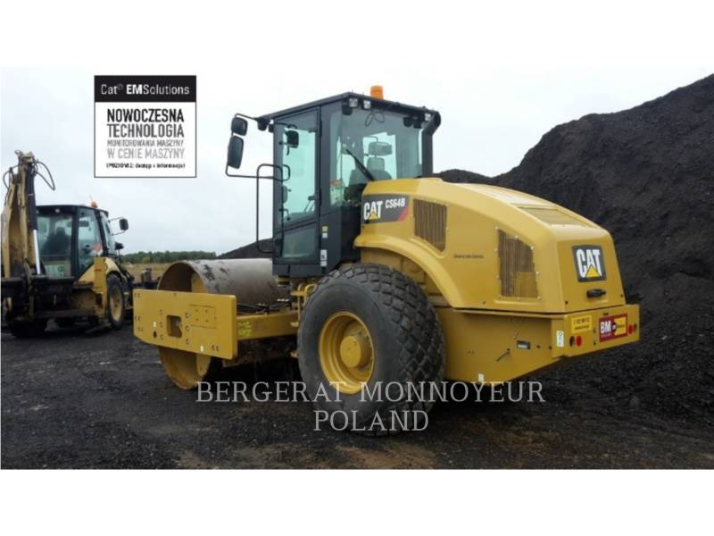 CATERPILLAR EINZELVIBRATIONSWALZE, GLATTBANDAGE CS 64 B equipment  photo 1