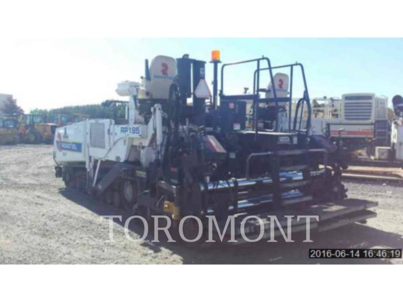 ROADTEC SCHWARZDECKENFERTIGER RP195 equipment  photo 3