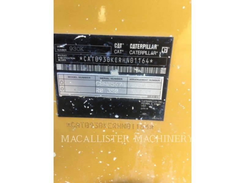 CATERPILLAR CHARGEURS SUR PNEUS/CHARGEURS INDUSTRIELS 930K equipment  photo 5