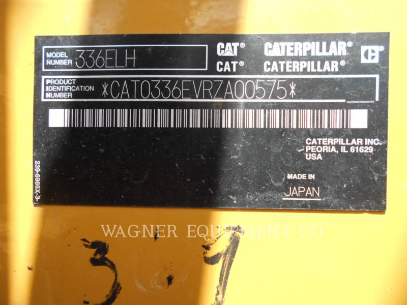 CATERPILLAR EXCAVADORAS DE CADENAS 336EL H TB equipment  photo 5