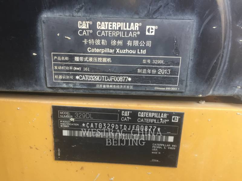 CATERPILLAR PELLES SUR CHAINES 329DL equipment  photo 2