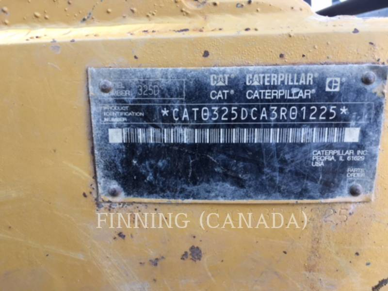 CATERPILLAR PELLES SUR CHAINES 325DL equipment  photo 8