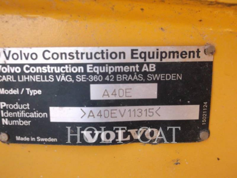 VOLVO KNICKGELENKTE MULDENKIPPER A40E equipment  photo 5
