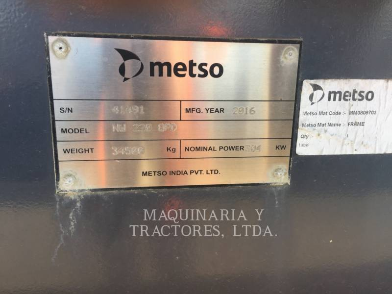METSO MINERALS CONCASSEURS NWGP220D equipment  photo 3