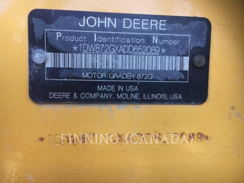 JOHN DEERE MOTORGRADER 872G equipment  photo 11