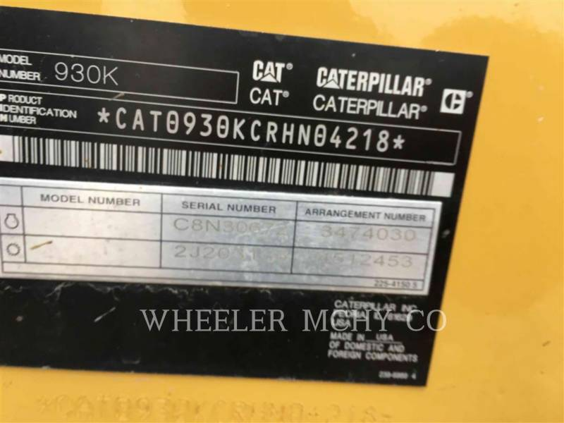CATERPILLAR WHEEL LOADERS/INTEGRATED TOOLCARRIERS 930K HL QC equipment  photo 6