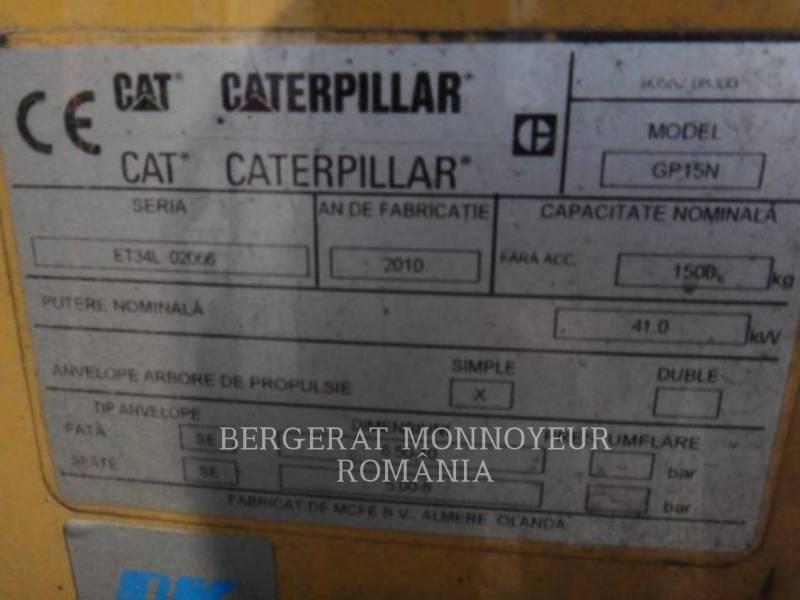MITSUBISHI CATERPILLAR FORKLIFT ELEVATOARE CU FURCĂ GP15N equipment  photo 4