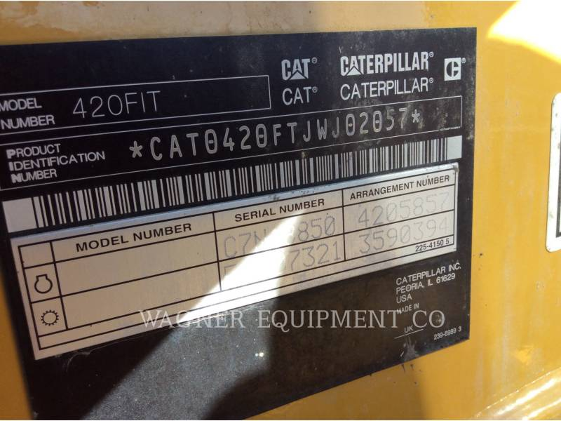 CATERPILLAR BAGGERLADER 420FIT equipment  photo 5