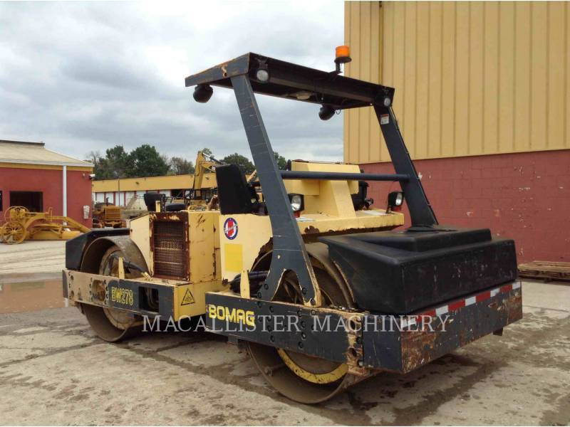 BOMAG VIBRATORY DOUBLE DRUM ASPHALT BW278 equipment  photo 5