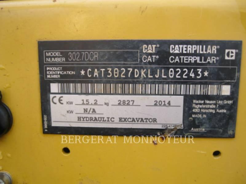 CATERPILLAR KOPARKI GĄSIENICOWE 302.7D CR equipment  photo 16