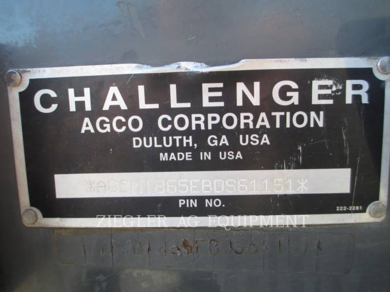 AGCO-CHALLENGER AG TRACTORS MT865B equipment  photo 16
