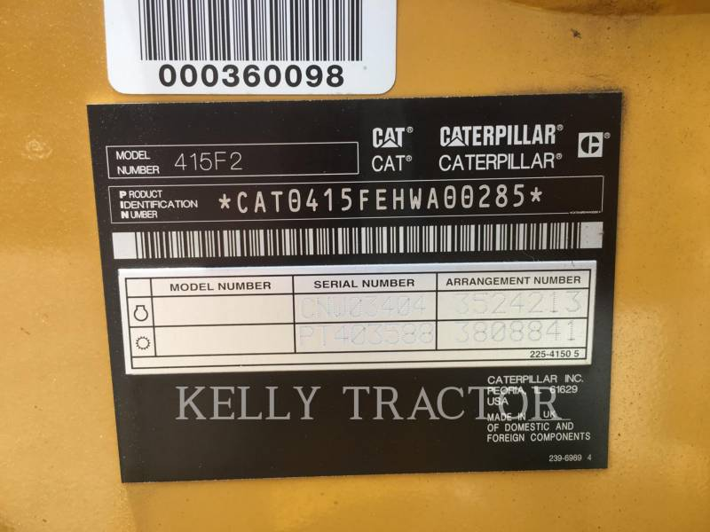 CATERPILLAR RETROEXCAVADORAS CARGADORAS 415F2ST equipment  photo 16