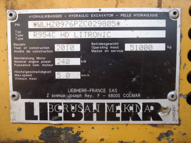 LIEBHERR MINING SHOVEL / EXCAVATOR R954C equipment  photo 10