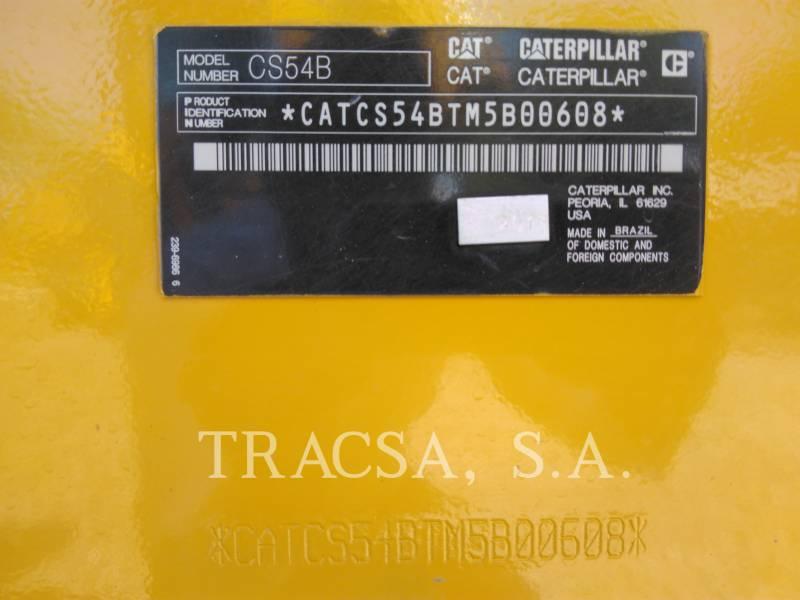 CATERPILLAR COMPATTATORE A SINGOLO TAMBURO VIBRANTE LISCIO CS 54 B equipment  photo 6