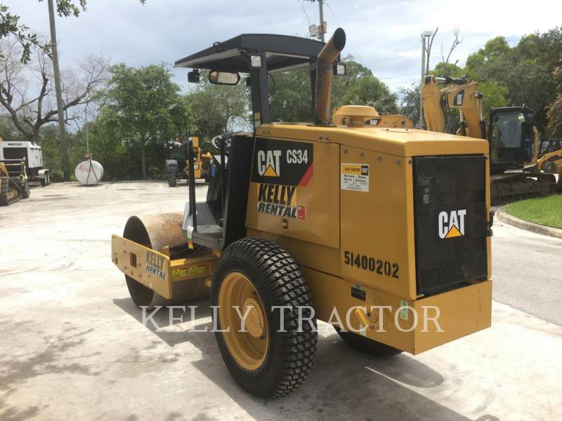 CATERPILLAR EINZELVIBRATIONSWALZE, GLATTBANDAGE CS34 equipment  photo 3