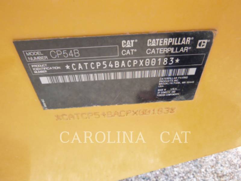 CATERPILLAR VIBRATORY TANDEM ROLLERS CP54B equipment  photo 9