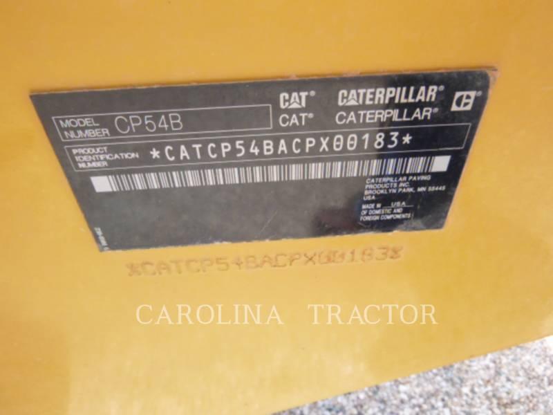 CATERPILLAR VIBRATORY TANDEM ROLLERS CP54B equipment  photo 9