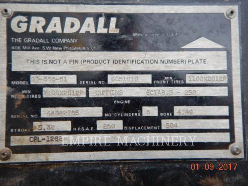 GRADALL COMPANY TRACK EXCAVATORS XL5100 equipment  photo 17