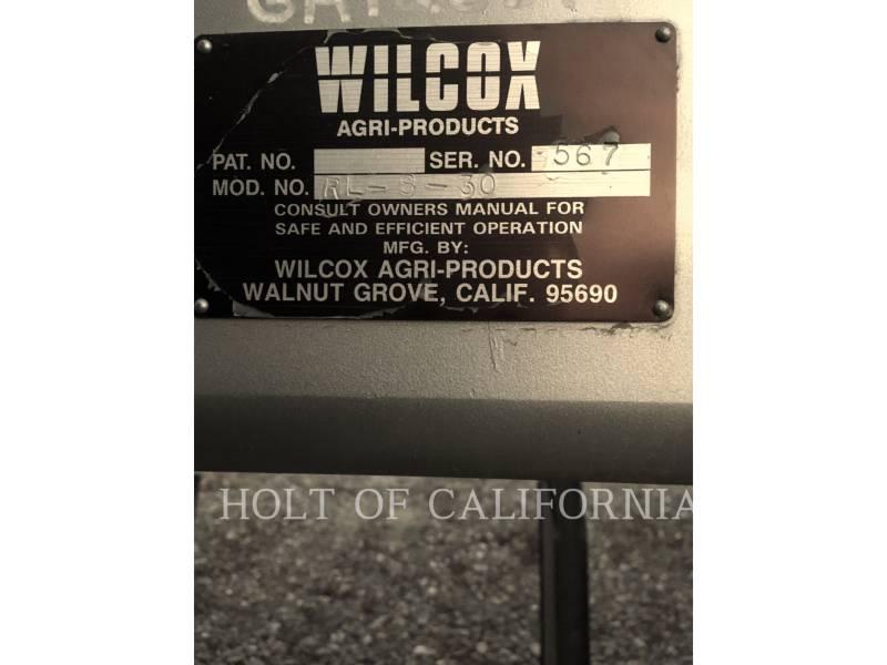 WILCOX AG TILLAGE EQUIPMENT RL830    GA12631 equipment  photo 3