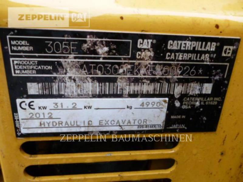 CATERPILLAR EXCAVADORAS DE CADENAS 305ECR equipment  photo 3